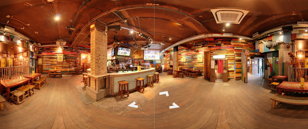 Google visite virtuelle / Cafe Oz Bar Australien - 805 Productions Paris / Santa Barbara