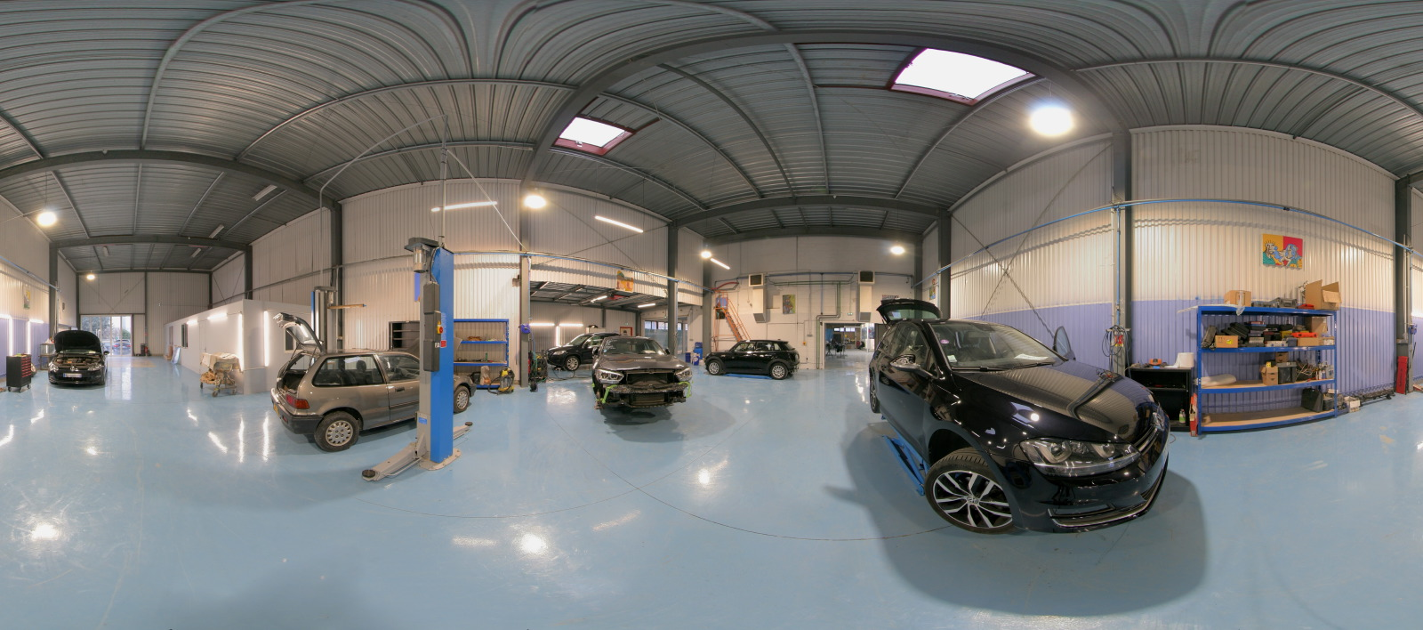 SV Cars garage automobile Le Plessis-Robinson. Visite virtuelle Google 805 Productions Paris